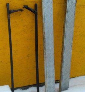Пороги с алюминиевым листом для ВАЗ 2131.