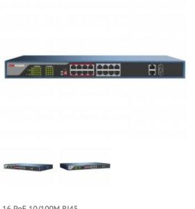Коммутатор Hikvision PoE на 16 портов.