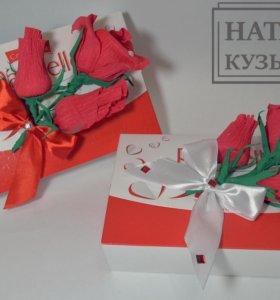Цветы из конфет,оформление,упаковка подарка