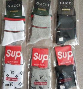 Носки Supreme&LV, Gucci новые