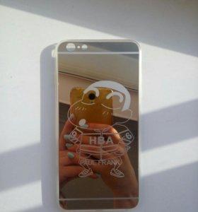 Чехол на Айфон 6+ ,новый зеркальный