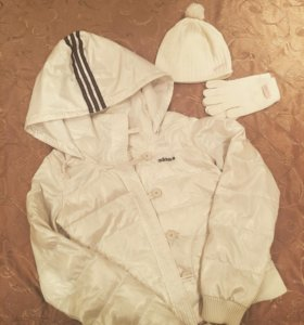 Пуховик+шапка/перчатки