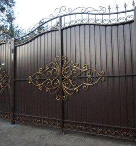Ворота, калитки, заборы, решетки.