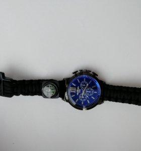 Часы(мужские) плетёный с компосом
