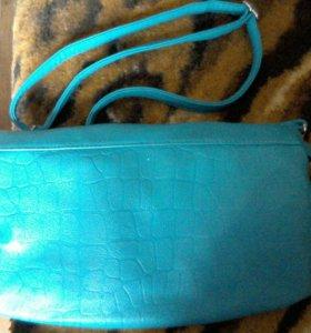 Сумочка + кожанный кошелечик-сумочка