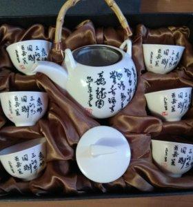 Сервиз для чайной церемонии (чайник и 6 пиалок)