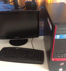 Компьютер. ЖК монитор. Мышь. Колонки.