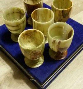 Набор стаканов из оникса
