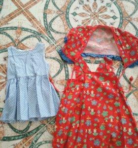 Платья хлопок на 1-2 года