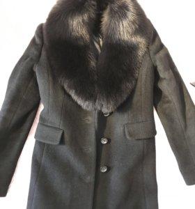Пальто женское чёрное новое весна / евро-зима