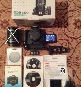 Фотоаппарат Canon eos 650D body с батарейным блоко