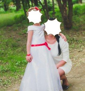 Продам детское платье на выпускной,туфли в подарок