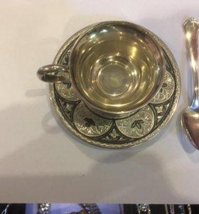 Посуда серебро