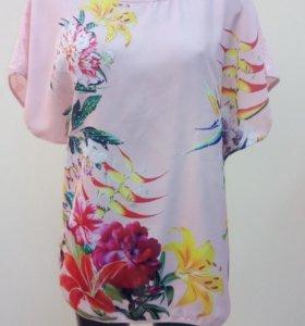 Новая удлинённая блузка-футболка