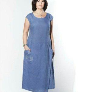Платье лен р56 НОВОЕ