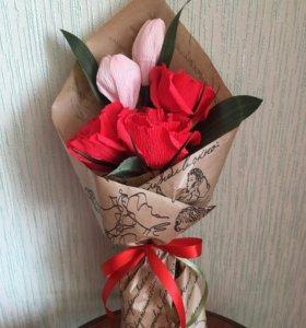 Букет с конфетами цветы подарок сладкий