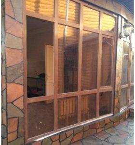 Пластиковые окна и двери витражи рассрочка