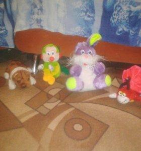 Зайчик, пчёлка, собачка и улитка