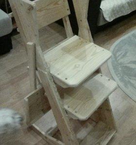 Растущий стульчик из лиственницы