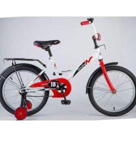 """Велосипед NOVATRACK 18"""", STRIKE, белый-красный"""