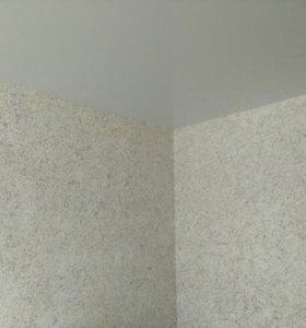 Отделка стен шёлковой штукатуркой (жидкими обоями)