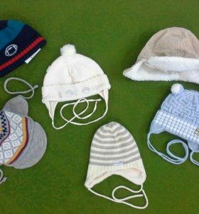 Пакет фирменных шапок малышу от 0 до 1 года.