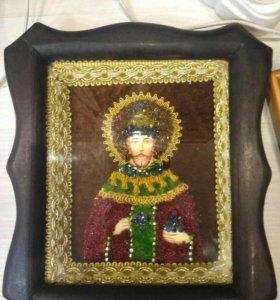 Икона царя Николая 2 ,б.у.