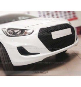 Решетка накладка на Hyundai solaris