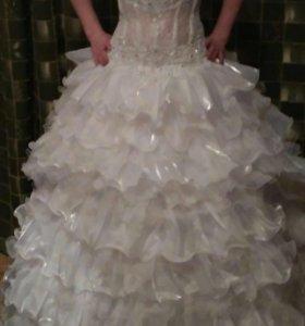 Свадебное платье трансформер р.42-44
