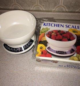 Кухонные весы для еды и продуктов новые механическ