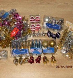 ёлочные игрушки, украшения новогодние