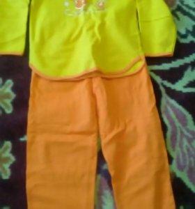 Пижама детская новая теплая