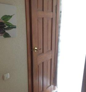 Дверь деревянная в туалет