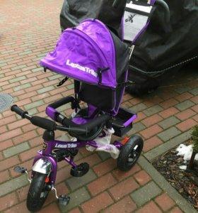 Трехколесный велосипед с ручкой для мамы