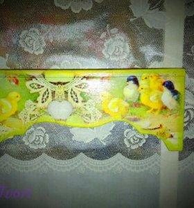 Подставка для пасхальных яиц Золотые цыплята