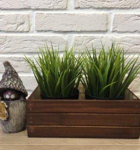 Деревянные ящики для декора и цветов