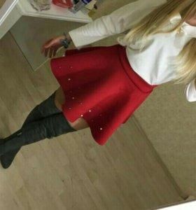 Неопреновая юбка с жемчужинами