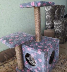 Домик для кошки когтеточка