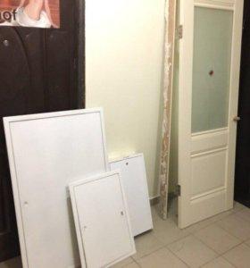 Двери межкомнатные,дверца металические.