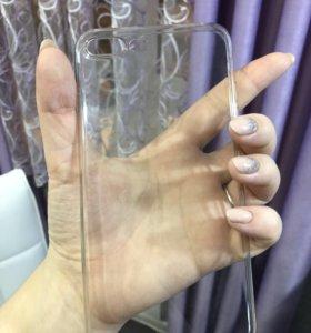 Прозрачный силиконовый чехол на iPhone 7+ 8+