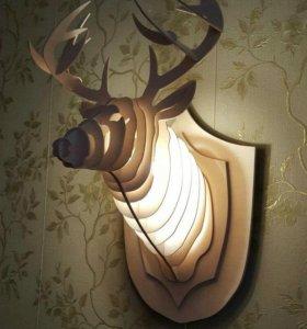 Деревянная голова оленя