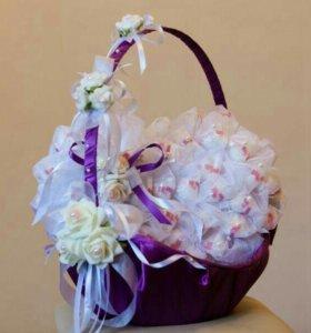 Букеты из конфет на свадьбу