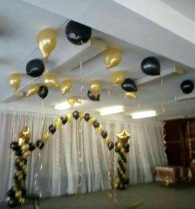 шары воздушные с гелием