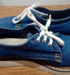 Туфли джинсовые 37р.