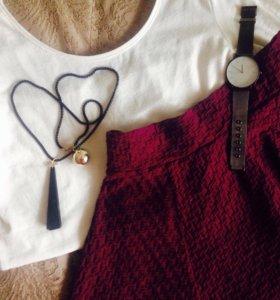 Белая водолазка/рубашка/кофта/топ/блуза