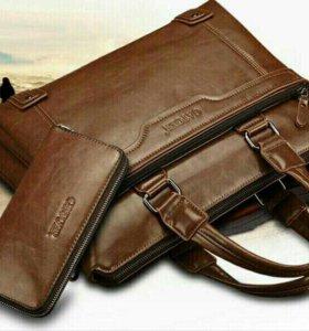 Продам новую сумку + кошелёк + ремешок