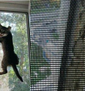 Москитка, антикошка сетки на окна двери