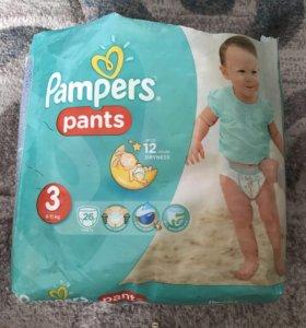 Памперсы трусики Pampers pants 3 до 11 кг.