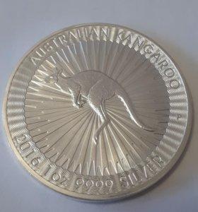 1 доллар - 2016 - Австралийский Кенгуру. Ag. 999,9