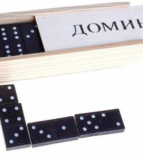 """Игра """"Домино"""" в деревянной коробке"""